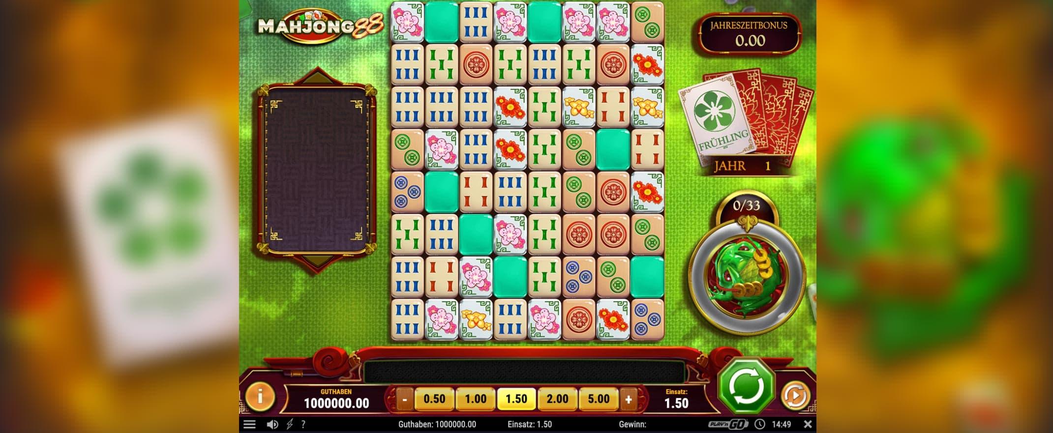 Mahjong Slots beautiful interface