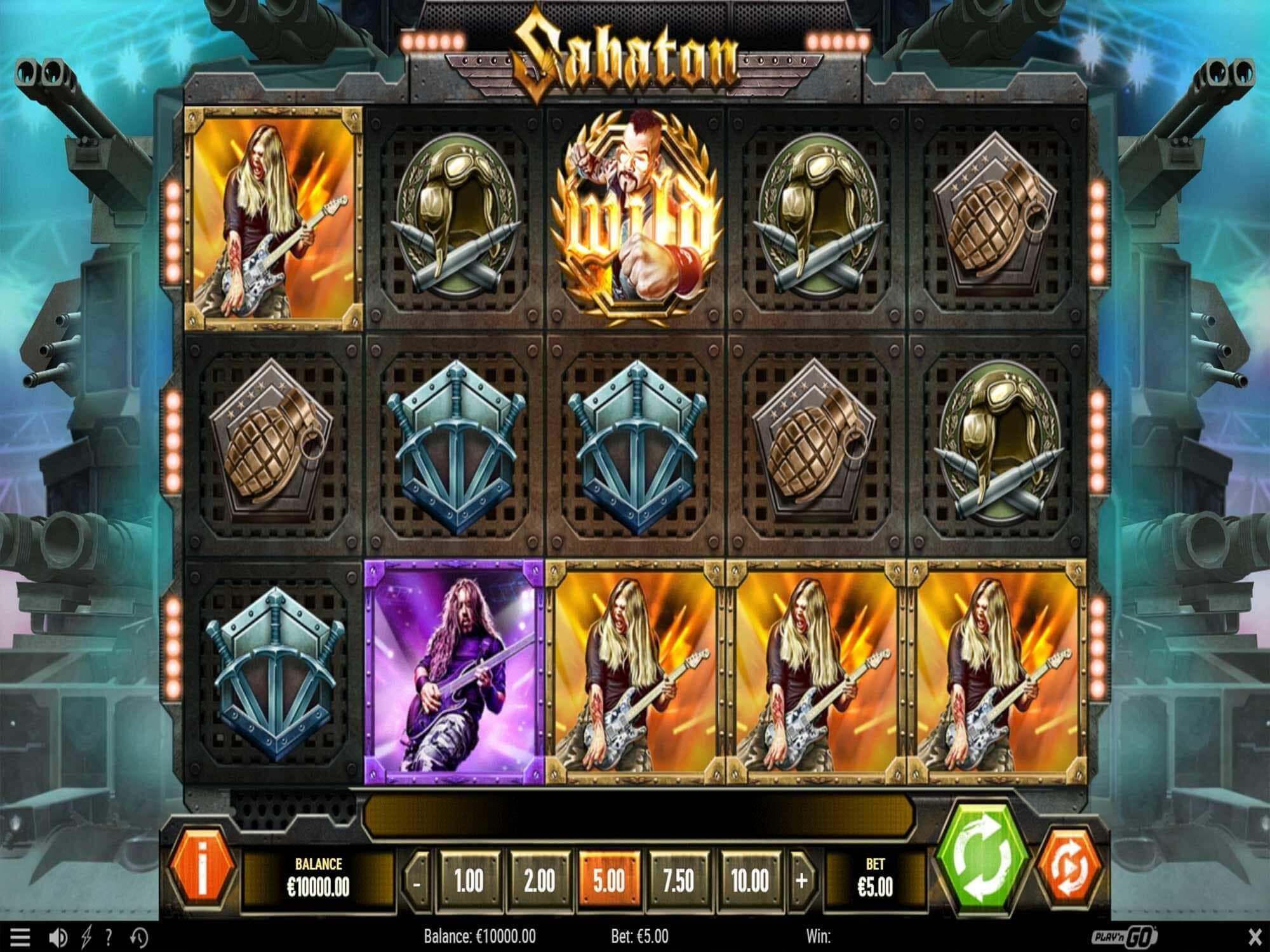 Sabaton Slots Win