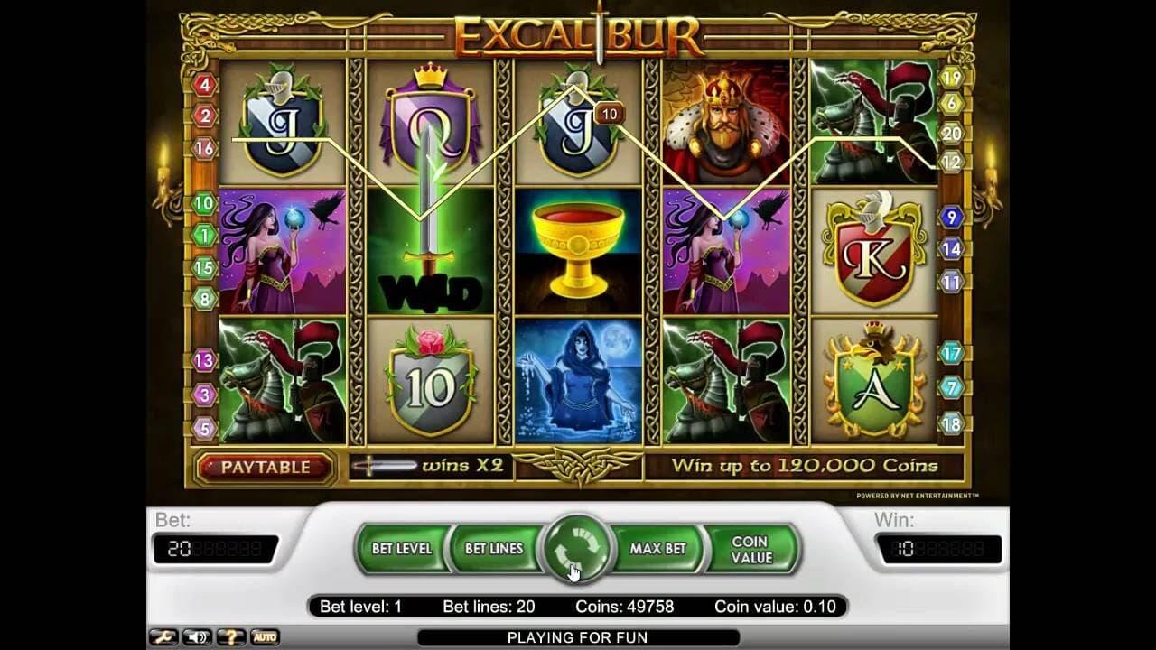 Excalibur Slot Machines