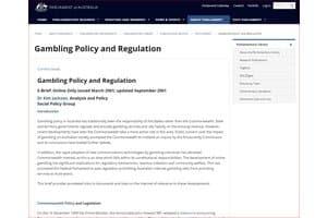 Australia Casino Gamling Regulation