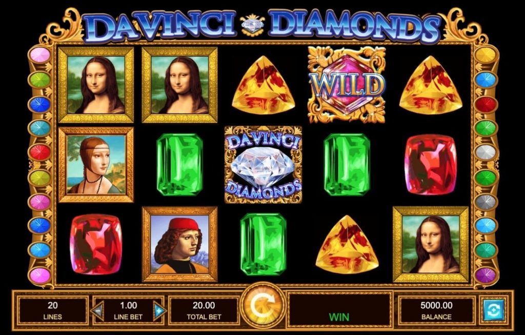 Play da vinci diamonds slots