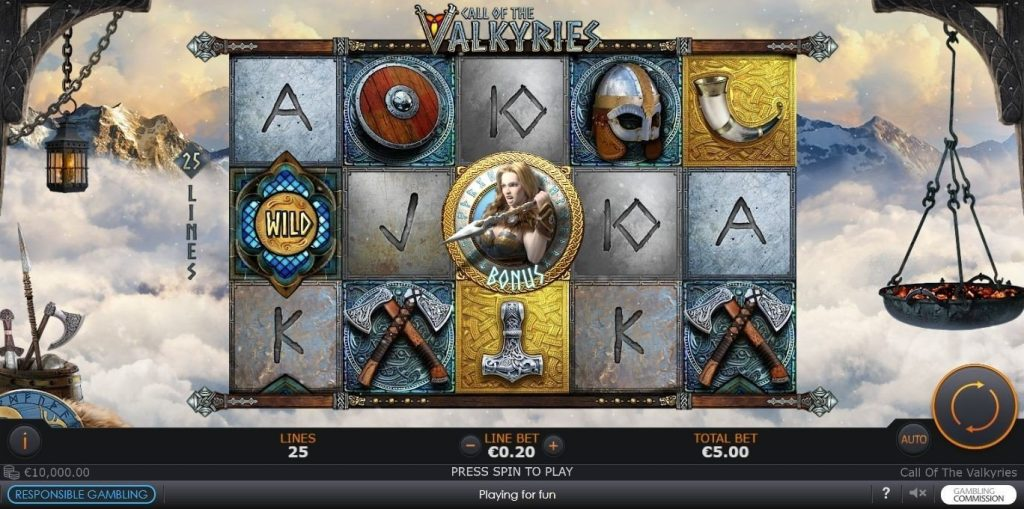 Play The New Call Of The Valkyries Slot From Playtech