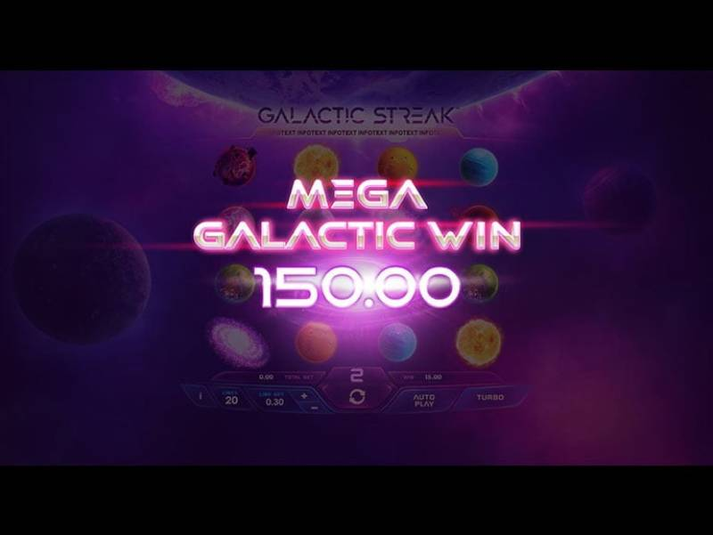Playtech Casinos Debut New Galactic Streak Slot