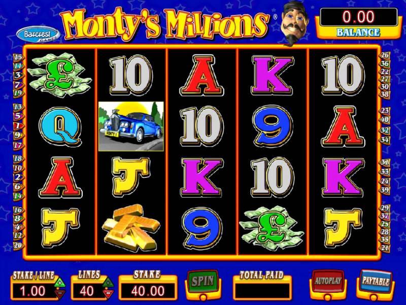 Montys Millions Slot Machine