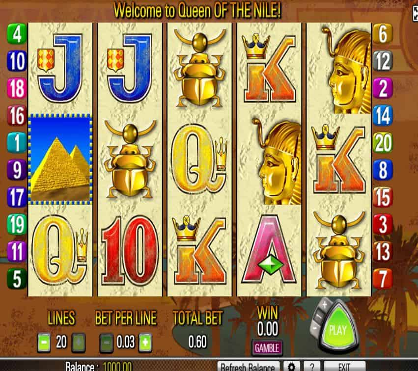 Relax With The No Download Queen Of The Nile 2 Slots